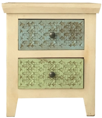 Jaipur Mandakini Mango Wood Coloured Bedside Table