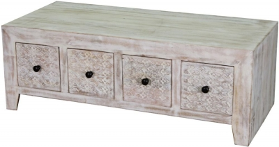 Jaipur Mandakini Mango Wood 8 Drawer Storage Coffee Table