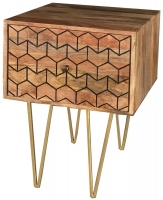 Jaipur Nive Mango Wood 1 Drawer Lamp Table