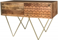 Jaipur Nive Mango Wood 2 Sliding Door Console Table