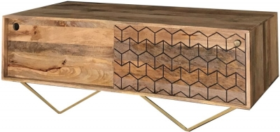 Jaipur Nive Mango Wood Storage Coffee Table