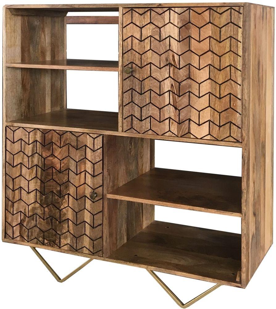 Jaipur Nive Mango Wood 2 Door Cabinet