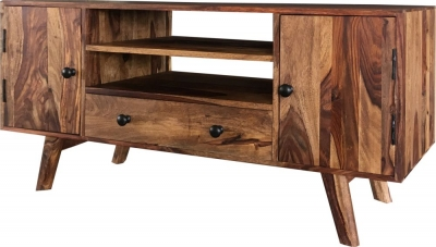 Jaipur Oker Sheesham Wood Plazma TV Unit