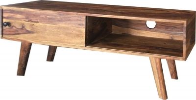 Jaipur Oker Sheesham Wood Sliding Door TV Cabinet