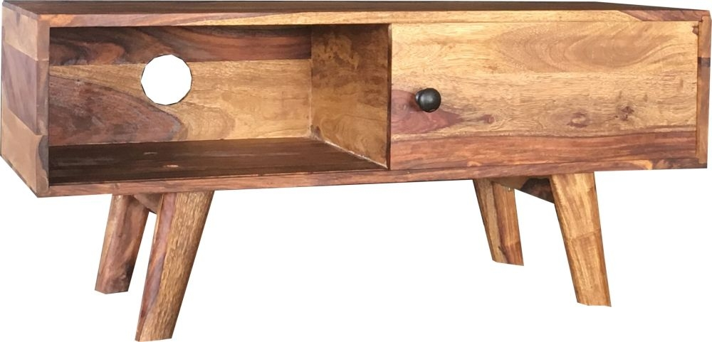 Jaipur Oker Sheesham Wood Small TV Cabinet
