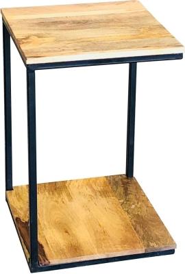 Jaipur Ravi Light Mango Wood and Iron Mini Side Table