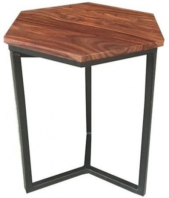 Jaipur Ravi Lamp Table - Mango Wood and Iron