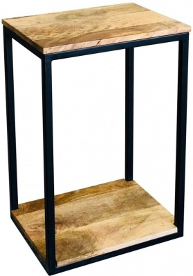 Jaipur Ravi Mini Side Table - Light Mango Wood and Iron