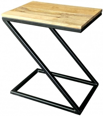 Jaipur Ravi Black Small Side Table - Light Mango Wood and Iron
