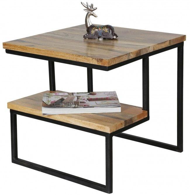 Jaipur Ravi Light Mango Wood and Iron Side Table