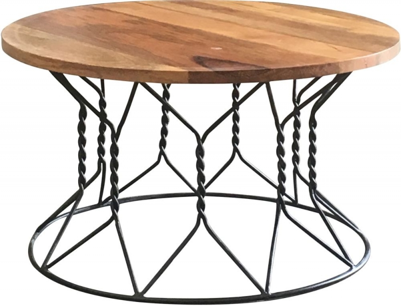 Jaipur Ravi Coffee Table - Mango Wood and Iron - 1218