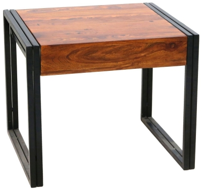 Jaipur Shipra Lamp table - Sheesham Wood and Metal