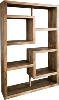 Jaipur Yoga Light Mango Straight Geometric Bookcase