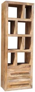 Jaipur Furniture Yoga Light Bookcase - Tall 2 Drawers
