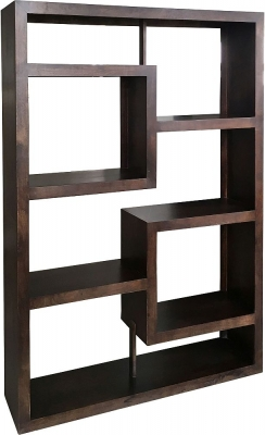 Jaipur Yoga Walnut Mango Straight Geometric Bookcase