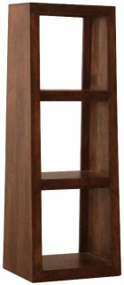 Jaipur Furniture Yoga Walnut 3 Hole Slope Display Unit