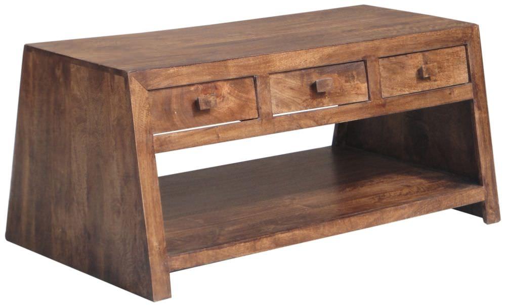 Coffee Table 3 Drawers Jaipur Furniture Yoga Walnut