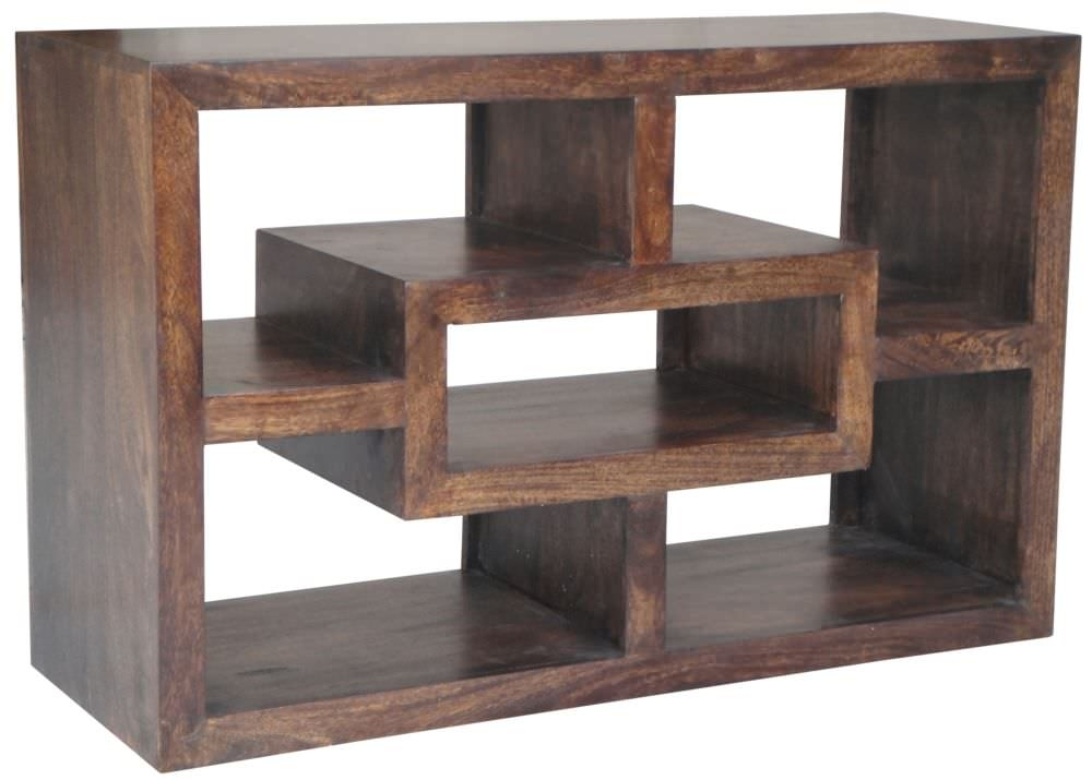 Jaipur Yoga Walnut Mango Wood Straight TV Unit