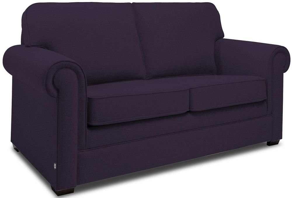 Jay-Be Classic Aubergine Sofa with Luxury Reflex Foam Seat Cushions