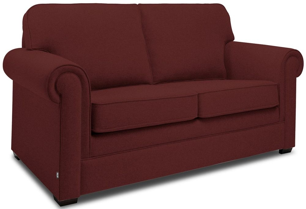 Jay-Be Classic Berry Sofa with Luxury Reflex Foam Seat Cushions