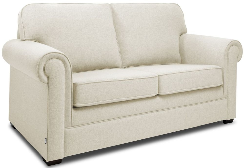 Jay-Be Classic Cream Sofa with Luxury Reflex Foam Seat Cushions
