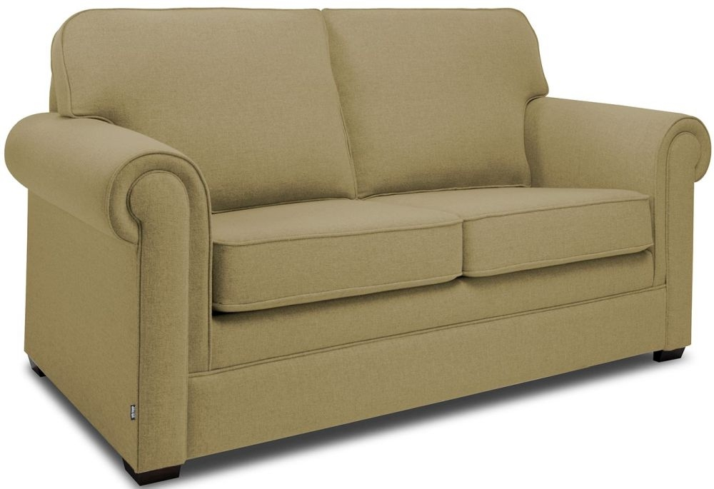 Jay-Be Classic Olive Sofa with Luxury Reflex Foam Seat Cushions