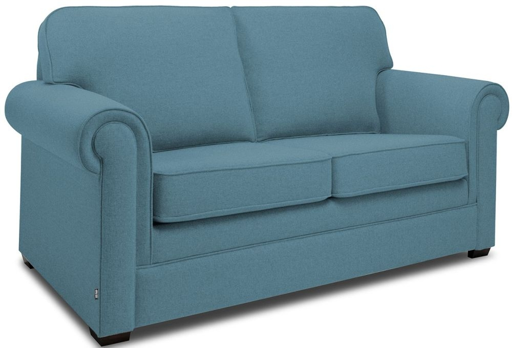 Jay-Be Classic Teal Sofa with Luxury Reflex Foam Seat Cushions