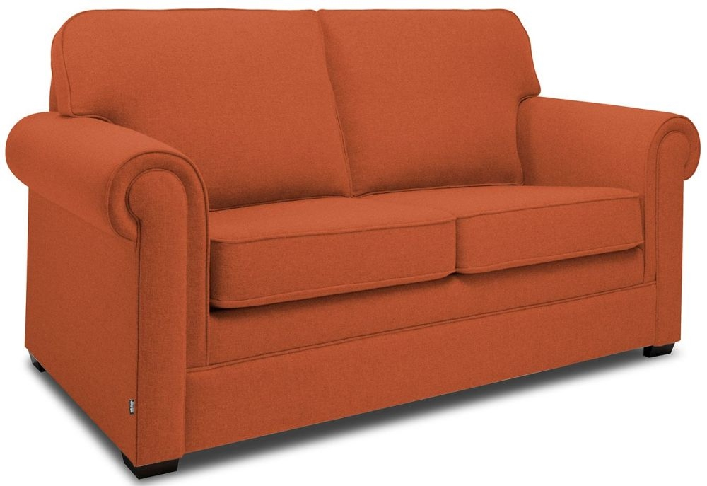 Jay-Be Classic Terracotta Sofa with Luxury Reflex Foam Seat Cushions