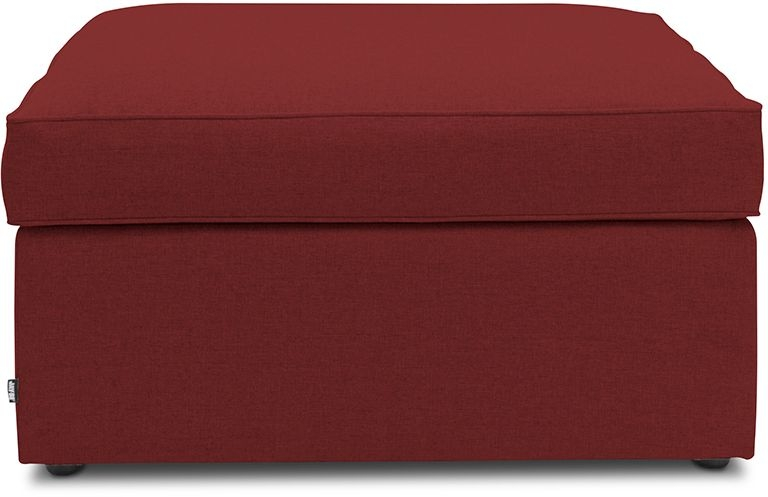 Jay-Be Footstool Cranberry Bed With Airflow Fibre Mattress
