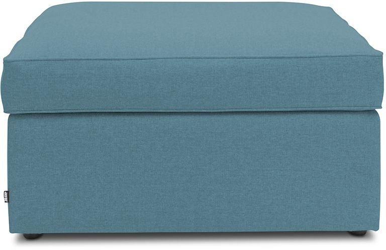 Jay-Be Footstool Teal Bed With Airflow Fibre Mattress