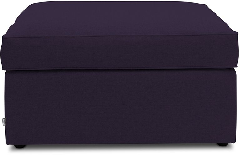 Jay-Be Footstool Airflow Fibre Mattress Bed - Aubergine Fabric