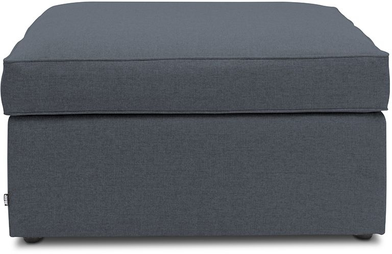 Jay-Be Footstool Airflow Fibre Mattress Bed - Denim Fabric