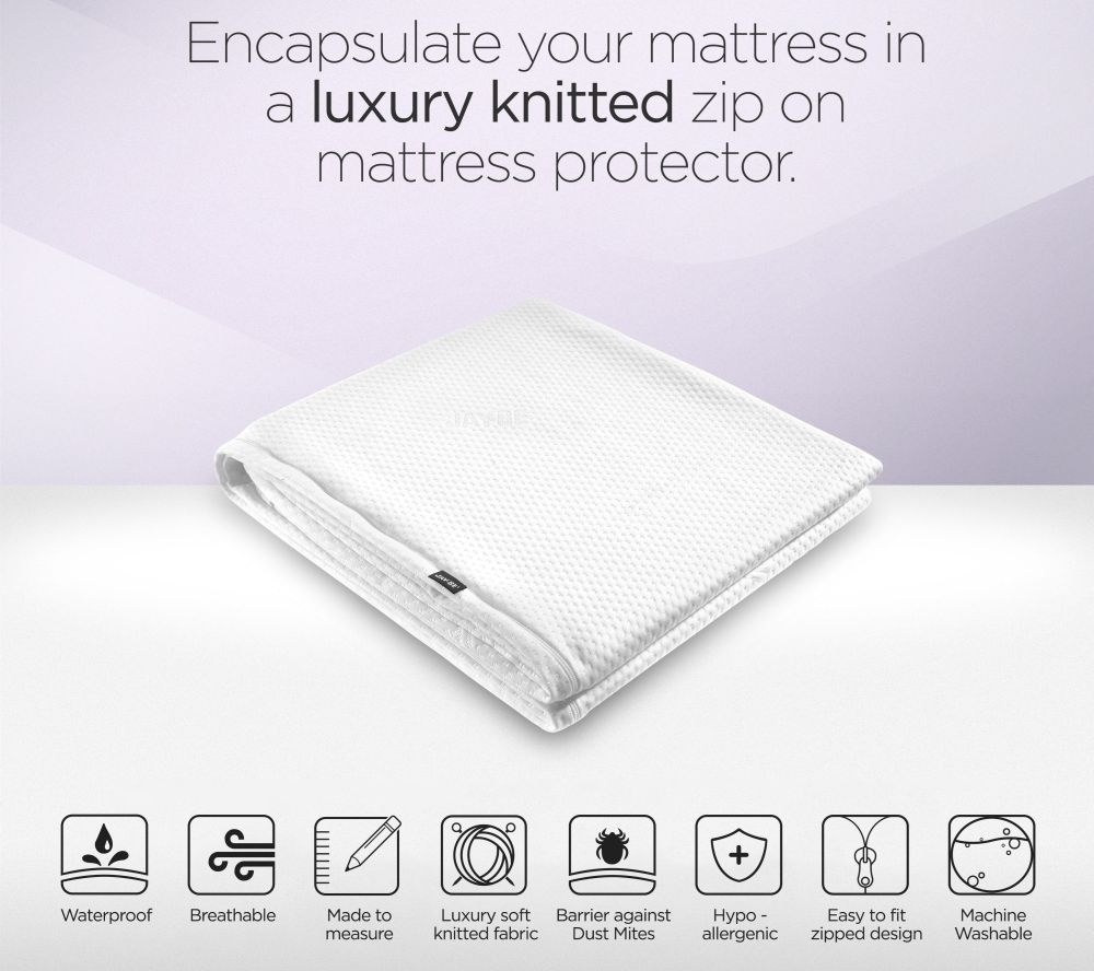 Product photograph showing Jay-be Visitor Contract Single Folding Bed Mattress Protector