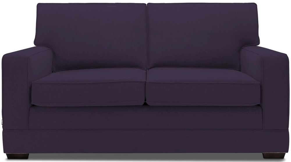 Jay-Be Modern Aubergine Sofa with Luxury Reflex Foam Seat Cushions