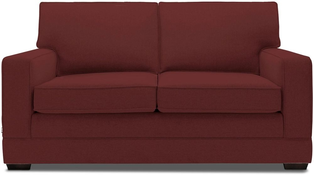 Jay-Be Modern Berry Sofa with Luxury Reflex Foam Seat Cushions