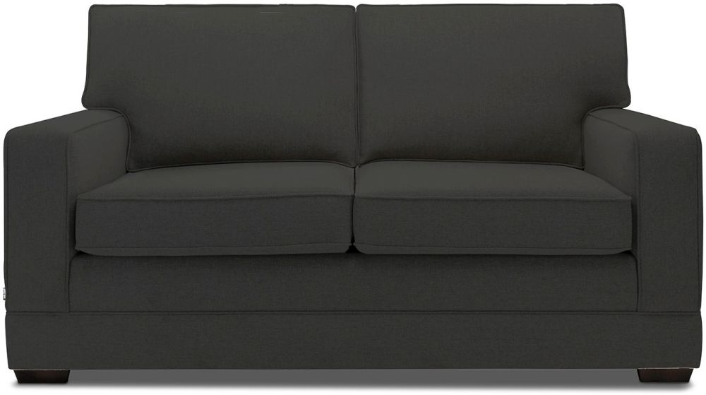 Jay-Be Modern Charcoal Sofa with Luxury Reflex Foam Seat Cushions