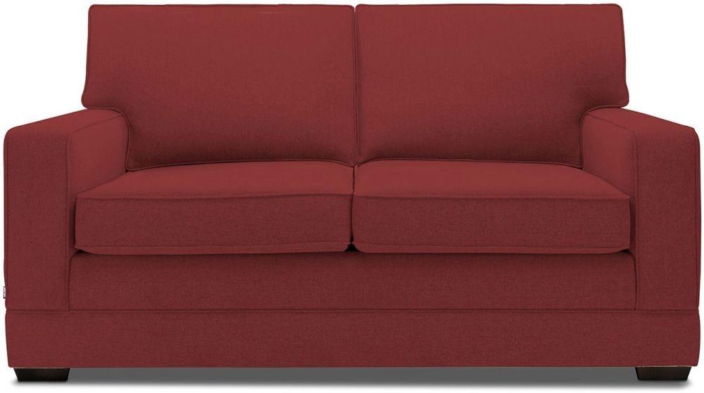 Jay-Be Modern Cranberry Sofa with Luxury Reflex Foam Seat Cushions