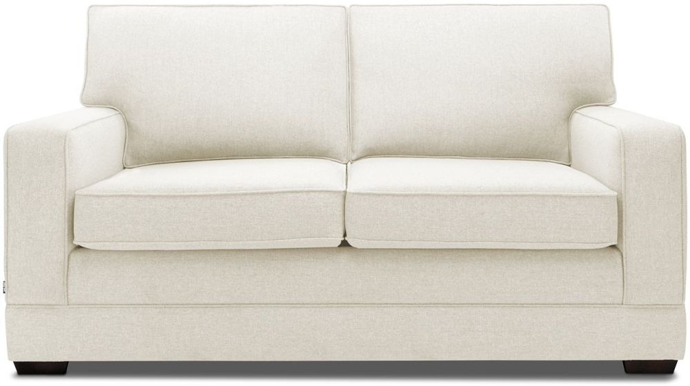 Jay-Be Modern Cream Sofa with Luxury Reflex Foam Seat Cushions