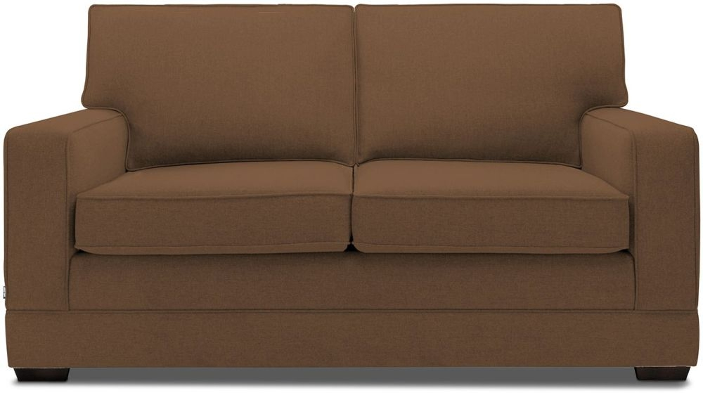 Jay-Be Modern Tan Sofa with Luxury Reflex Foam Seat Cushions
