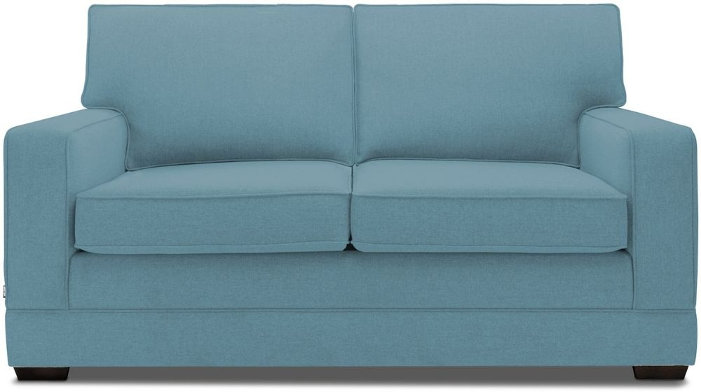 Jay-Be Modern Teal Sofa with Luxury Reflex Foam Seat Cushions