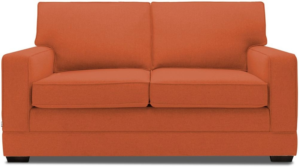 Jay-Be Modern Terracotta Sofa with Luxury Reflex Foam Seat Cushions