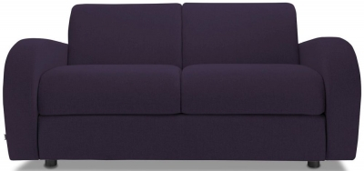 Jay-Be Retro Deep Sprung Mattress 2 Seater Sofa Bed - Aubergine Fabric