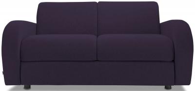 Jay-Be Retro Deep Sprung Mattress 2 Seater Sofa Bed - Aubergine Fabric