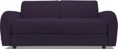Jay-Be Retro Deep Sprung Mattress 3 Seater Sofa Bed - Aubergine Fabric