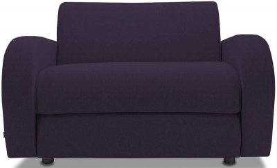 Jay-Be Retro Deep Sprung Mattress Chair Sofa Bed - Aubergine Fabric