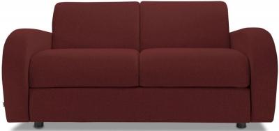 Jay-Be Retro Deep Sprung Mattress 2 Seater Sofa Bed - Berry Fabric