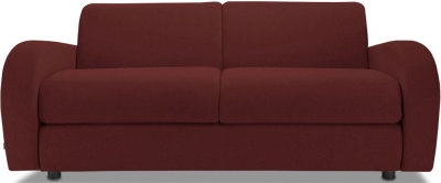 Jay-Be Retro Deep Sprung Mattress 3 Seater Sofa Bed - Berry Fabric