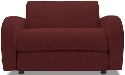 Jay-Be Retro Deep Sprung Mattress Chair Sofa Bed - Berry Fabric