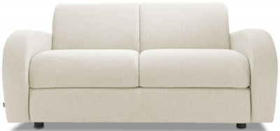 Jay-Be Retro Deep Sprung Mattress 2 Seater Sofa Bed - Cream Fabric
