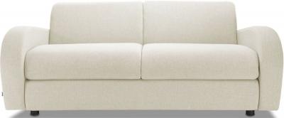 Jay-Be Retro Deep Sprung Mattress 3 Seater Sofa Bed - Cream Fabric